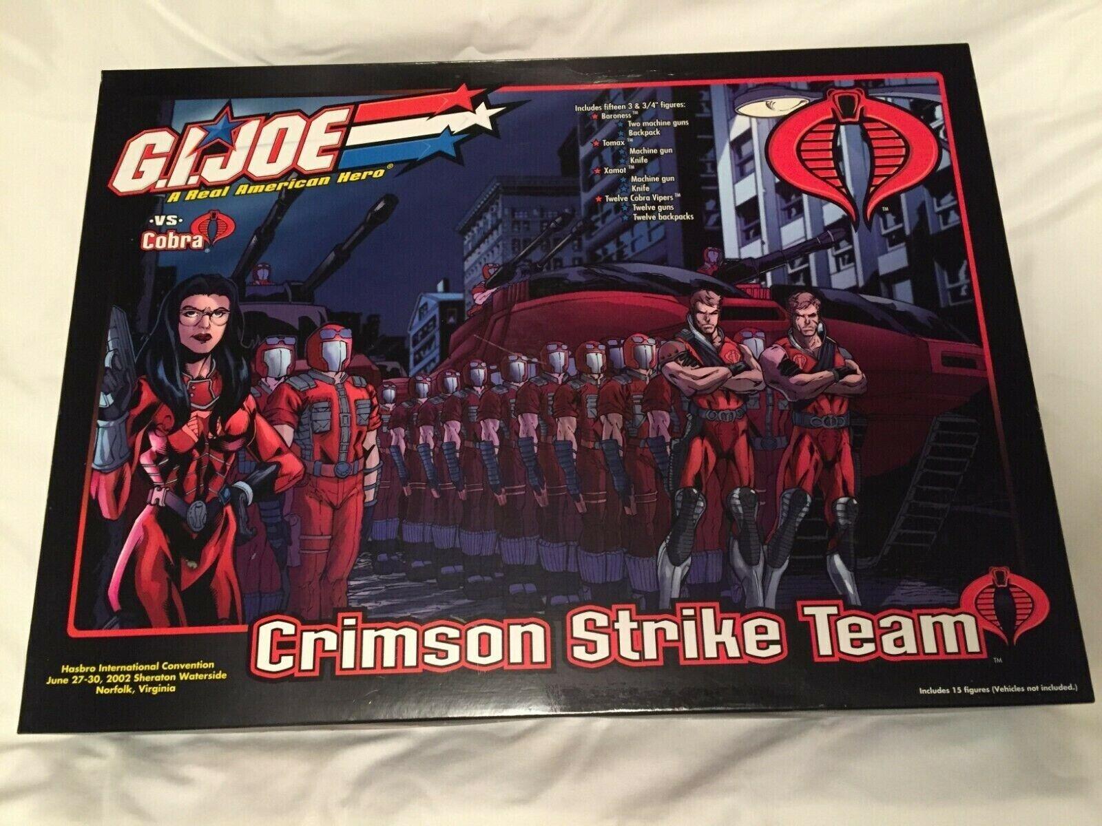 GI Joe 2002 CRIMSON STRIKE TEAM BOX SET Convention Exclusive Complete