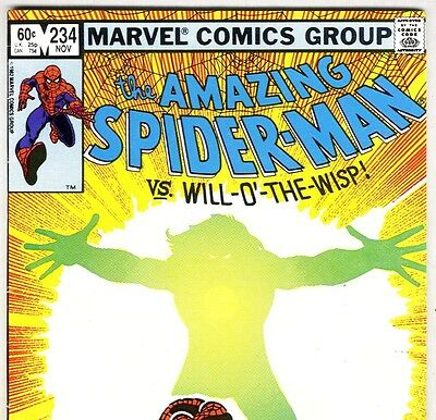 The Amazing Spider Man 234 Vs Will O The Wisp From Nov 1982 In Vg Con Dm Ebay