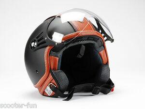 Jethelm-Motorradhelm-Rollerhelm-Matt-Schwarz-Neu-S-M-L-XL