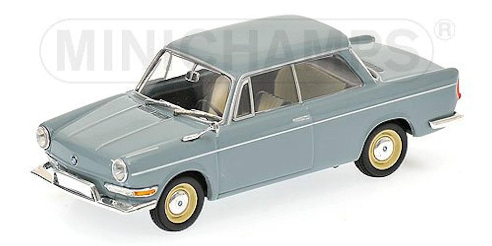 BMW 700 LS Limousine 1959-65 bleu bleu céramique bleu bleu bleu 1 43 Minichamps 785c74