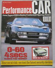 Performance Car 05/1992 featuring Aston Martin, Bentley, Westfield, BMW, Audi