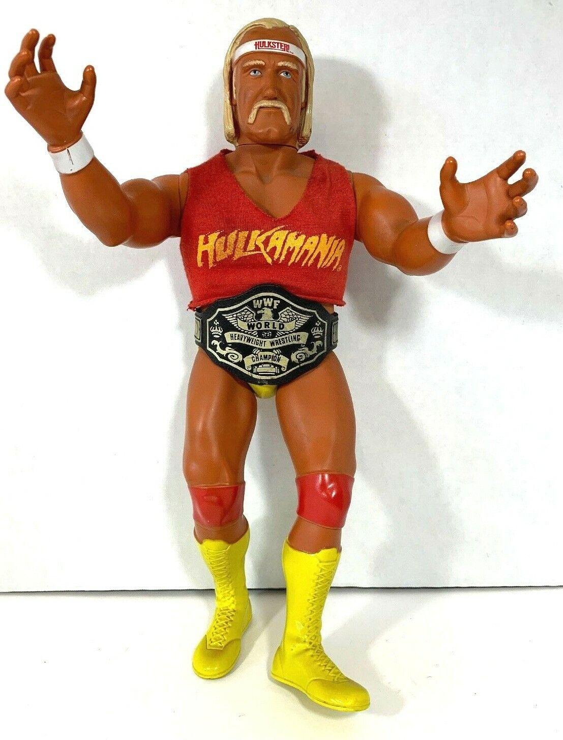 WWE WWF 1985 LJN HULK HOGAN 16 WRESTLING POSEABLE cifra HULKAuomoIA VINTAGE