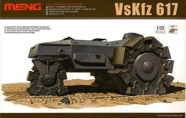 Meng Models 1 35 VsKfz 617 German Minesweeper Vehicle WWII Model Kit