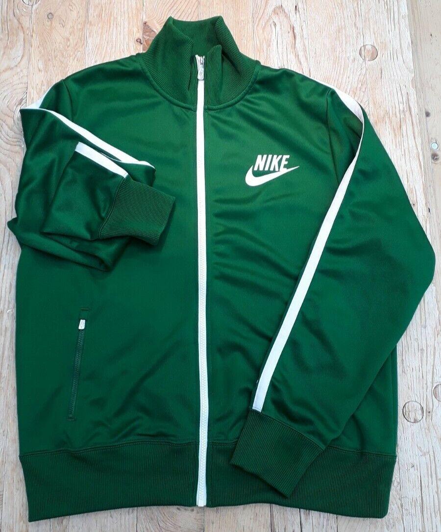 NIKE Tennis Fussball Basketball Trainingsanzug Jacke Hose N98 grün weiss L