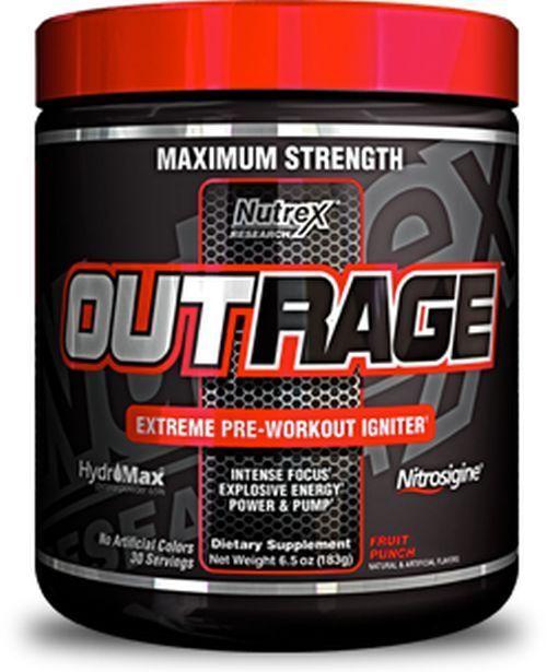 Outrage Pre-Workout Booster 2 x 144 g Nutrex EUR21,46 100g + Hammer Gutschein +