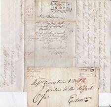 * 1815/32 2 DIFF PEEBLES BOXED MILEAGES >EDIN ALEX WILLIAMSON COURSE RIVER TWEED