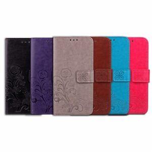 Funda-libro-flip-piel-sintetica-tapa-diseno-trebol-Xiaomi-Redmi-4X