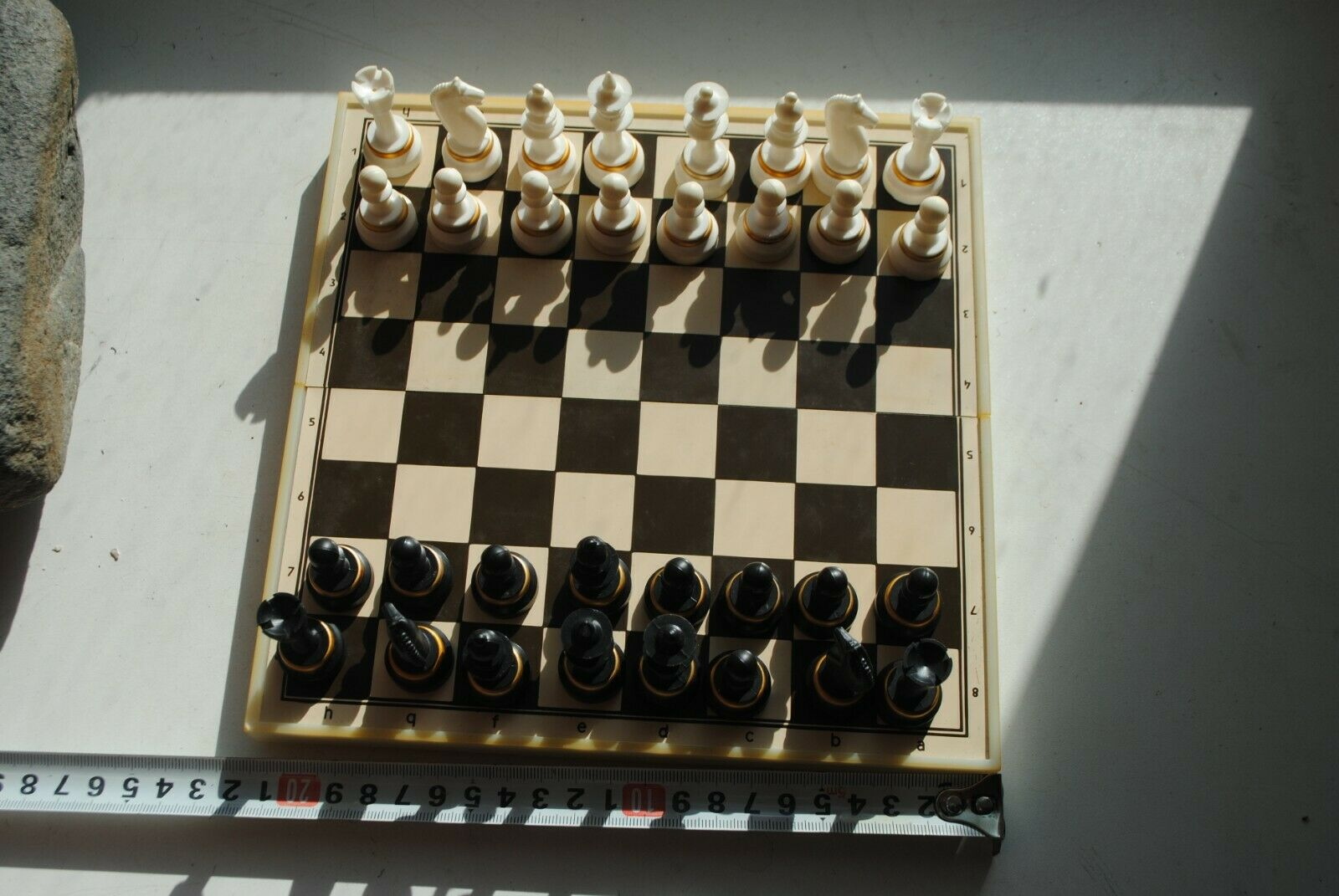 Vintage. Old magnetized road chess USSR.
