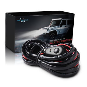 12ft led light bar wiring harness kit off road 40 amp relay on off