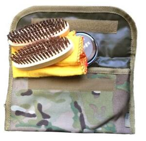 Kit-cuidado-botas-camuflaje-multicam-soldado-militar-bolsa-nylon-cepillos