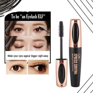 4D-Silk-Fiber-Eyelash-Mascara-Extension-Makeup-Black-Waterproof-Eye-Lashes
