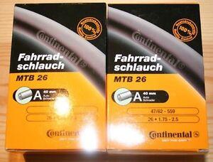 2-x-Continental-MTB-Inner-Tubes-26-034-x-1-75-2-5-034-SCHRADER-Mountain-Bike-26-Inch