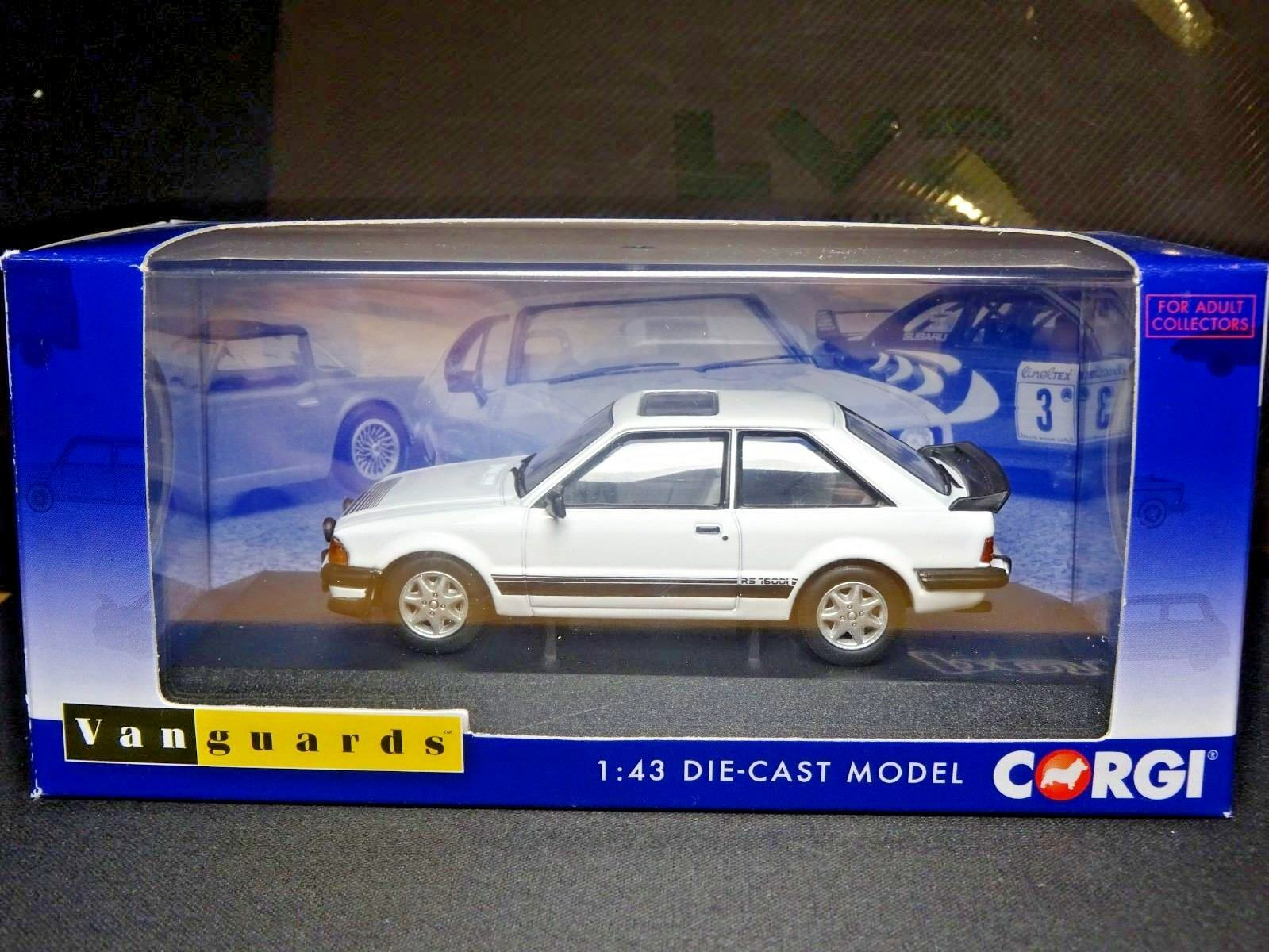 WOW EXTREMELY RARE 1 43 VANGUARDS FORD ESCORT MK3 MK3 MK3 RS 1600I DIAMOND blanco NLA f6f8a3