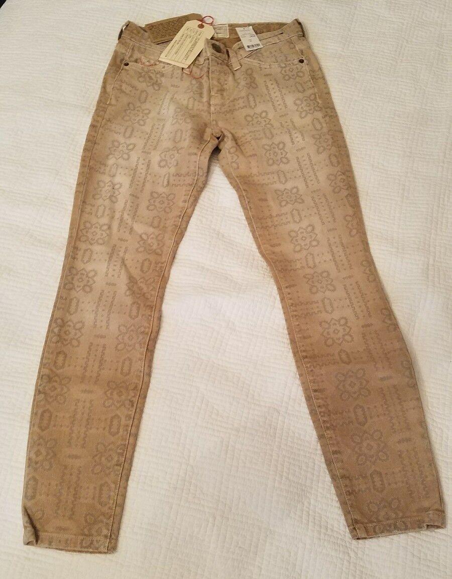 CURRENT ELLIOTT The Stiletto In Safari Bandana Ankle Skinny Jeans Size 25 NEW