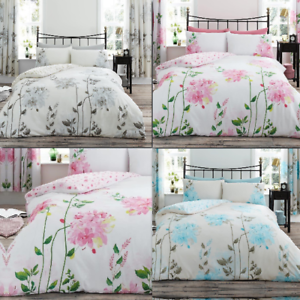 Image Is Loading Luxurious Camila Floral Duvet Quilt Cover Reversible  Bedding