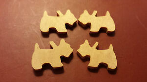 50-NATURAL-WOOD-DOG-SHAPES-Cabochon-card-making-jewellery-can-be-painted-etc