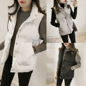 Womens-Quilted-Coat-Puffer-Warm-Jacket-Sleeveless-Slim-Winter-Plus-Size-Vest