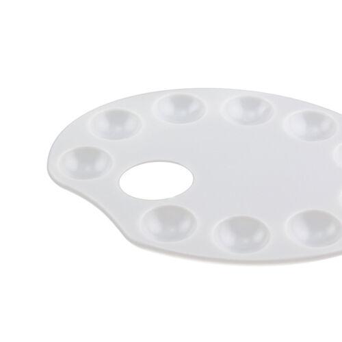 10pc Set Oval Plastic Paint Art Tray Mixing Palette Wells Craft School Supplies