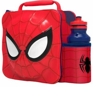 3D-Spiderman-Lunch-Bag-with-Bottle-Kids-Thermal-Lunchbox-Food-Drink-Storage