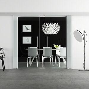 Doppel-Glasschiebetuer-2x-900-x-2050mm-Glastuer-Schiebetuer-LEVIDOR-BA2K9G