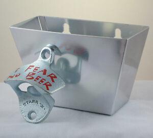 Kroeg Small White Metal Cap Catcher for Wall Mount Bottle Openers Kurkentrekkers, flesopeners Starr X New!!