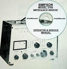 Simpson 2785 Impedance Bridge Operating Amp Service Manual