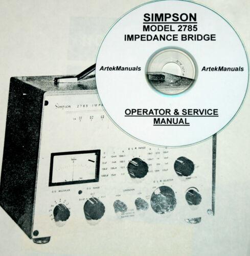 Operating /& Service Manual SIMPSON 2785 Impedance Bridge