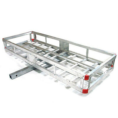 "60"" Aluminum RV Cargo Luggage Carrier Basket Water Tank Hauler 2"" Hitch Mount"