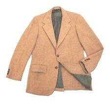 Harris Tweed Solid Beige Jacket Slim 38R Small Blazer Sport Coat Twill vtg