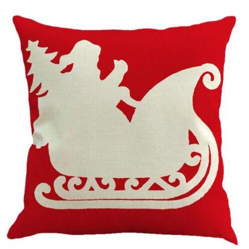 Green Leaf Plant Cotton Linen Pillow Case Sofa Waist Cushion Cover Home Decor