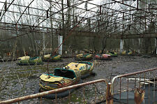 Framed Print - Bumper Cars at the Chernobyl Fairground (Gothic Picture Photo)