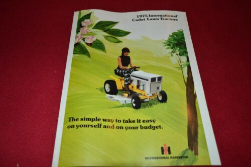 International Harvester Cub Cadet Lawn Tractors For 1975 Dealer/'s Brochure TEIN