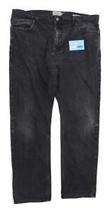 Marks-amp-Spencer-Mens-Black-Denim-Jeans-Size-W38-L33