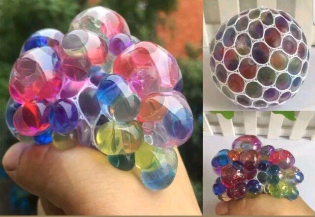 2x matschig Mesh Rainbow Ball Anti Stress Autismus Sensorisches Spielzeug Versandkostenfrei Angebot