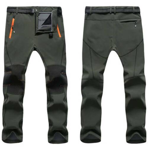 Mens Warm Thermal Trousers Tactical Hiking Outdoor Combat Cargo Work Long Pants