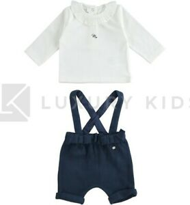 Completo T-shirt E Salopette Corta Neonata Minibanda K773