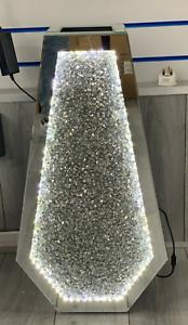SPARKLE PALACE LED Diamond Crushed Crystal Sparkly Mirrored Floor Vase 40CM UK✨