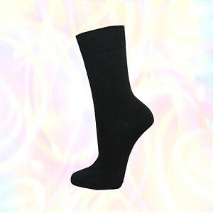6-24-Paar-schwarze-Herren-Socken-Sport-Struempfe-Freizeit-Arbeit