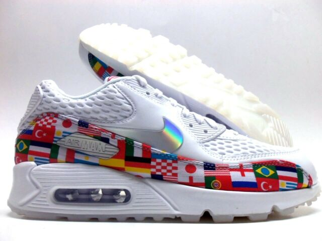 Nike Air Max 90 NIC QS World Cup International Flag Ao5119 100 Mens Size 9
