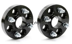 Black-Merit-Wheel-Spacer-Adapter-20-mm-4x100-Hub-Centric-2-PCS-BMW-E30-E21