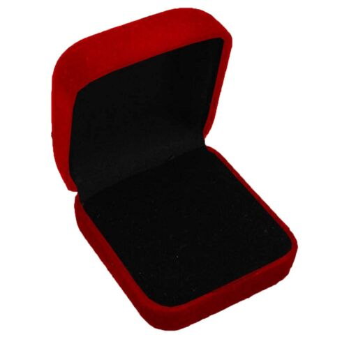 Wähle Größe Roter Samt Flock Schmuck Kiste