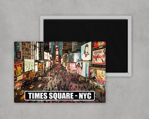 Times Square NYC Large Novelty Fridge Magnet 8cm x 5cm Tourism Travel Gift