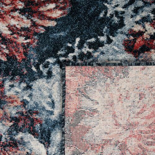 Tapis Salon Floral Motif Bohème Design Vintage Poils Ras Diff Coloris