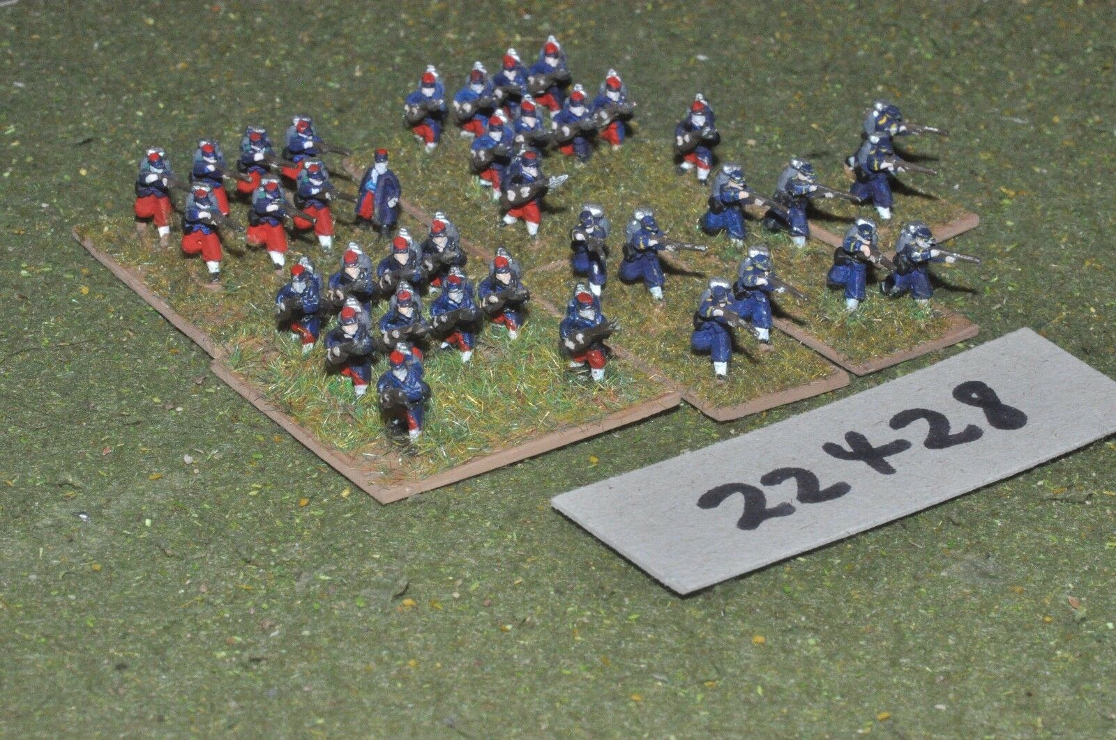 10mm 19th century   french - french line 40 figs inf - inf (22428)