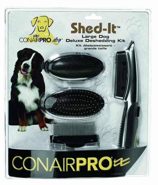 CONAIRPRO Shed-it Deluxe Grooming Kit for Large Dogs 3in