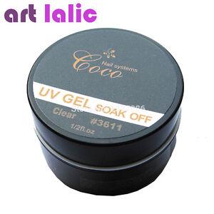 Soak-Off-UV-Gel-Nail-Art-Tips-Gel-Nail-Manicure-CLEAR-Color-Builder-GDCOCO