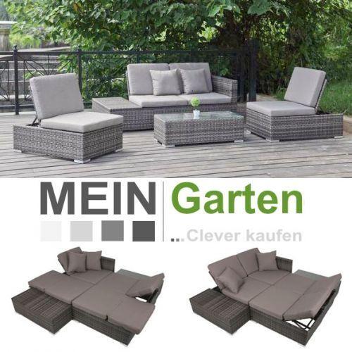 Polyrattan Gartenmöbel Rattan Sitzgruppe Loungemöbel Alcudia Klein