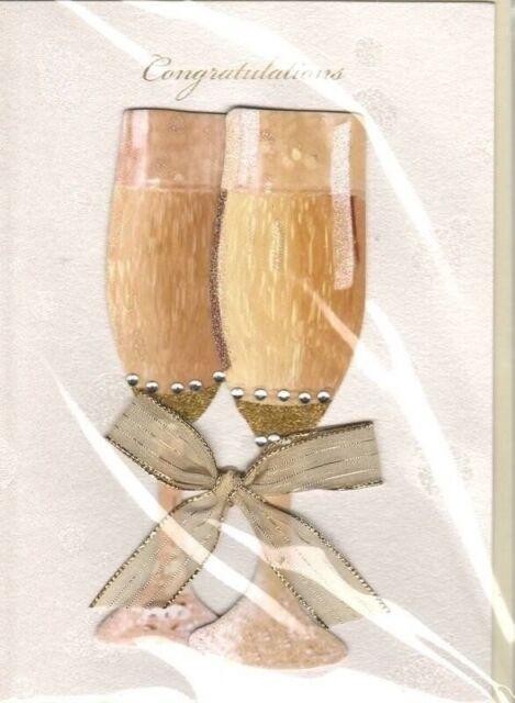 anniversary card handmade anniversary card champagne glasses wedding anniversary