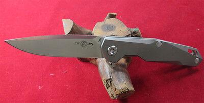 TwoSun TC4 Titanium D2 Blade Ball Bearings Fast Open Pocket Folding Knife TS--21