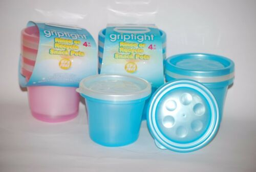 pack of 4 *CLEARANCE* Griptight Rinse or Recycle Snack Pots
